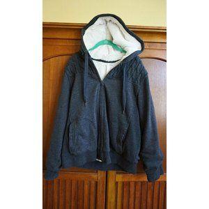 GreenTea Gray/White Reversible Fur-Lined Jacket